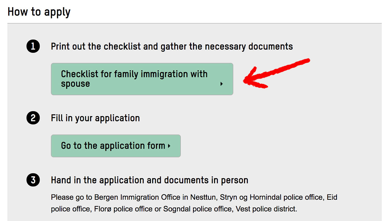 Family immigration checklist