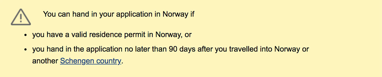 Application submission rules in Norway
